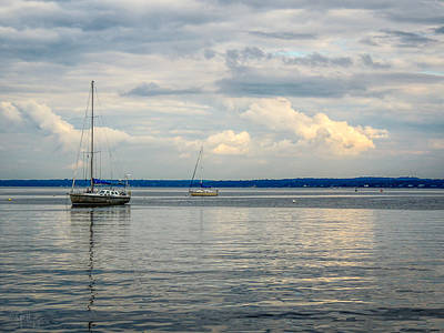 Photograph - Bright Clouds In The Mist by Glenn Feron