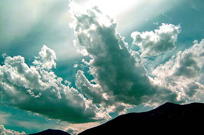 Bright Clouds Art Print by Mavis Reid Nugent