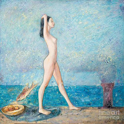 Young Girl Nude Painting - Bright Days by Shijun Munns