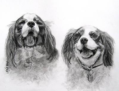 Drawing - Bright Double Trouble by Michelle Wolff