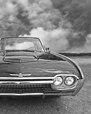 Photograph - Bright Eyes - Sixties T- Bird Vertical Black And White by Gill Billington