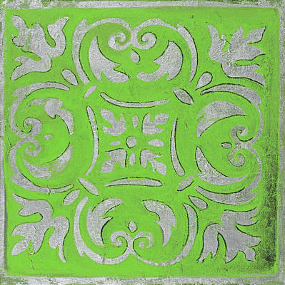Mosaic Mixed Media - Bright Green Mosaic by Patricia Pinto