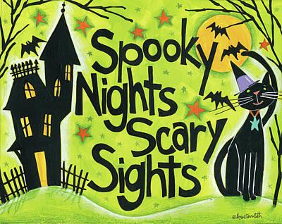 Bright Halloween IIi Art Print by Anne Tavoletti