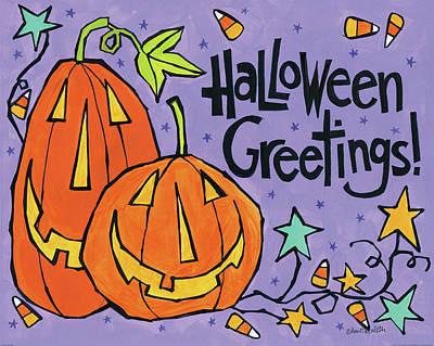 Candy Painting - Bright Halloween Viii by Anne Tavoletti