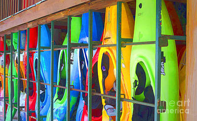 Photograph - Bright Kayak by Jerry Hart