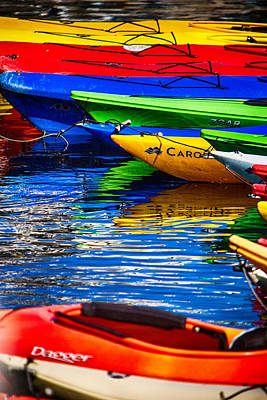 Photograph - Bright Kayak Reflections by Jeff Folger