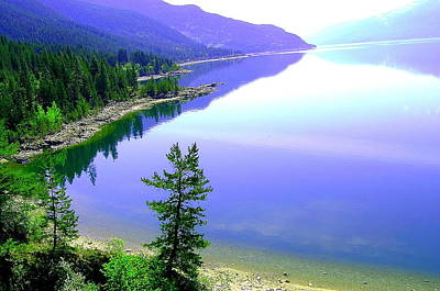 Bright Kootenay Lake Print by Mavis Reid Nugent