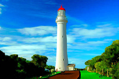Painting - Bright Lighthouse by Bruce Nutting