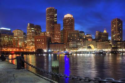 Bright Lights Boston Art Print by Joann Vitali