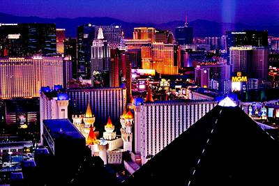 Photograph - Bright Lights Of Vegas by Benjamin Yeager