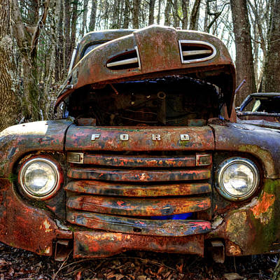 Photograph - Bright Lights On An Old Ford by Greg Mimbs