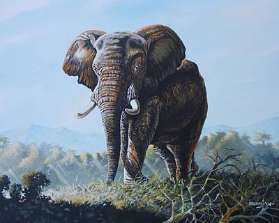 Bright Morning Art Print by Anthony Mwangi