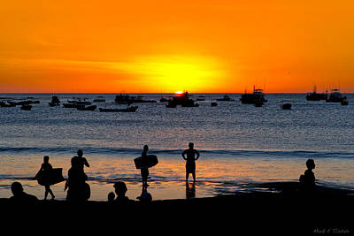 Photograph - Bright New Future - Sunset On Nicaragua by Mark E Tisdale