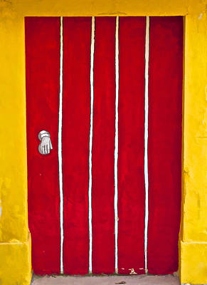 Photograph - Bright Red Door II by David Letts