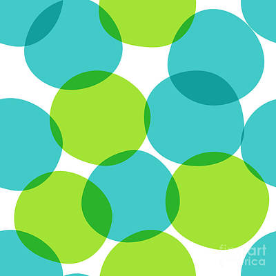 Bright Wall Art - Digital Art - Bright Seamless Pattern With Circles by Yanakotina