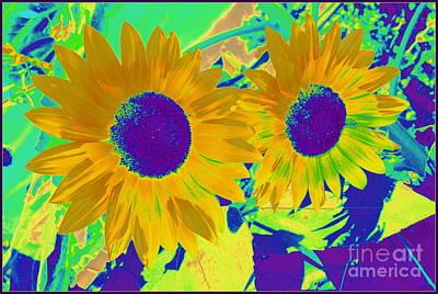Bright Sunflowers Pop Art Original