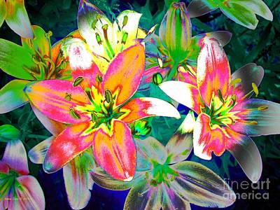 Painting - Bright Tiger Lilies by Annie Zeno