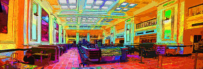 Photograph - Bright Train Station Diner by C H Apperson