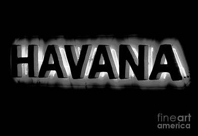 Black Top Digital Art - Bright Vibrant Neon Black And White Backlit Hotel Havana Sign Conte Crayon Digital Art  by Shawn O'Brien