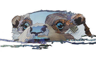 Otter Painting - Bright Water by Catherine Kleeli