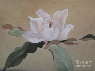 Art Print featuring the painting Bright White by Nancy Kane Chapman