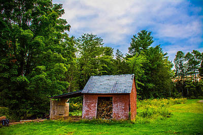 Photograph - Bright Wood Shed by Jason Brow