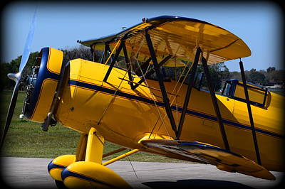 Photograph - Bright Yellow Bi Plane by Sheri McLeroy