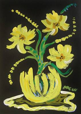 Impact Drawing - Bright Yellows by Mary Carol Williams