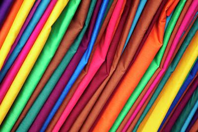 Flea Market Photograph - Brightly Colored Material At Suva Flea by David Wall