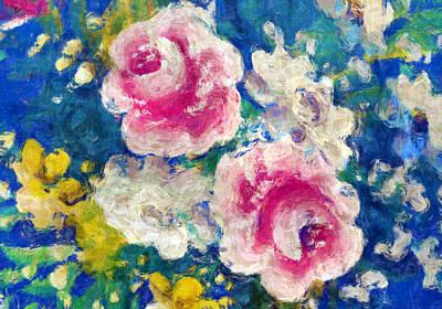 Brightly Floral Art Print by Susan Leggett