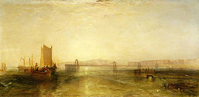 Town Pier Photograph - Brighton From The Sea, C.1829 by Joseph Mallord William Turner