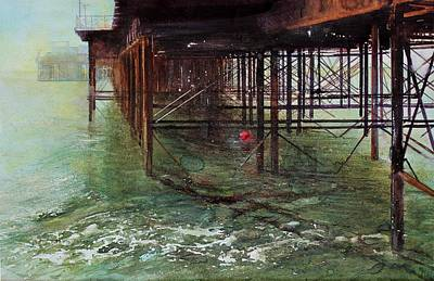 Painting - Brighton Pier by David  Poxon