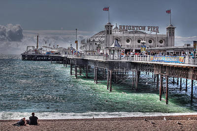 Funfair Photograph - Brighton Pier by Jasna Buncic