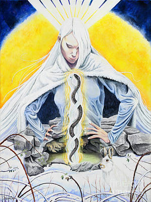 Poetry Painting - Brigid by Antony Galbraith