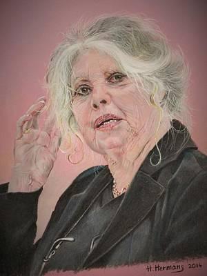 Actrice Drawing - Brigitte Bardot 2007 by Hendrik Hermans