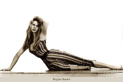 Photograph - Brigitte Bardot French Actress Sex Symbolsn1967 by California Views Archives Mr Pat Hathaway Archives