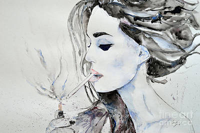 Painting - Brigitte Bardot by Ismeta Gruenwald