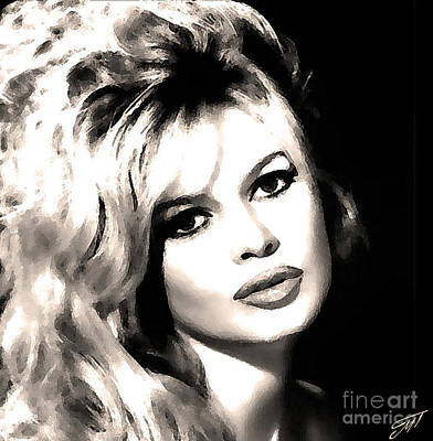 Bardot Photograph - Brigitte Bardot by Magdalene's Art