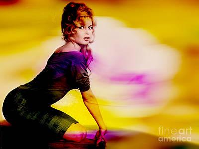Sex Symbol Mixed Media - Brigitte Bardot by Marvin Blaine