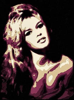 Painting - Brigitte Bardot Poster Art by Florian Rodarte