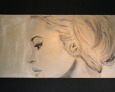 Actrice Painting - Brigitte Original Uncut Version by Michel Sehstedt