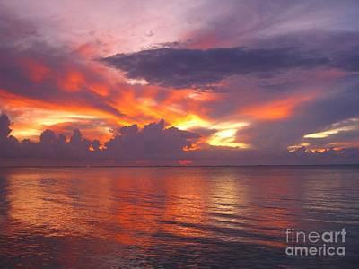 Briliant Sunset Art Print by Kassia Ott
