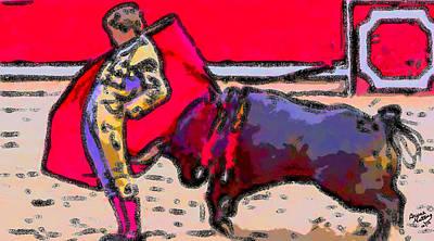 Bullfighter Painting - Brilliant Bullfighter by Bruce Nutting