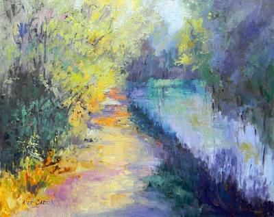 Redfield Painting - Brilliant Colors Canal by Kit Dalton