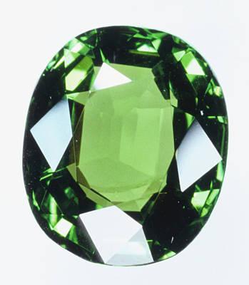 Brilliant Cut Green Grossular (garnet) Art Print