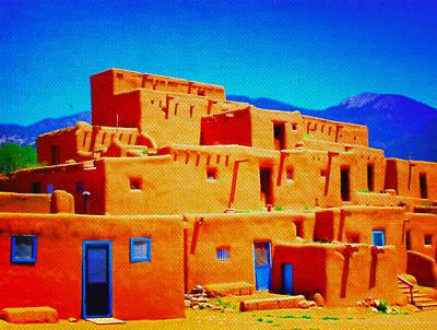 Mixed Media - Brilliant High Desert by Michelle Dallocchio