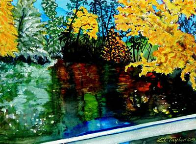 Brilliant Mountain Colors In Reflection Art Print by Lil Taylor