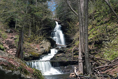 Photograph - Brilliant Spring Day At Ozone Falls by Gene Walls
