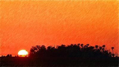 Photograph - Brilliant Sunset by Richard Zentner