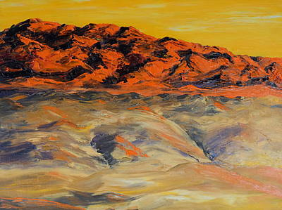 Brilliant Montana Mountains And Foothills Art Print